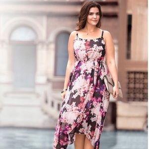 Lane Bryant Asymmetric Floral Dress